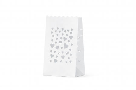 Lampioane lumanari Heart Spread, 11.5 x 7 x 19cm (1 pachet / 10 buc.)3