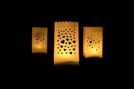 Lampioane lumanari Heart Spread, 11.5 x 7 x 19cm (1 pachet / 10 buc.)1