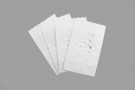 Lampioane lumanari Heart Spread, 11.5 x 7 x 19cm (1 pachet / 10 buc.)4
