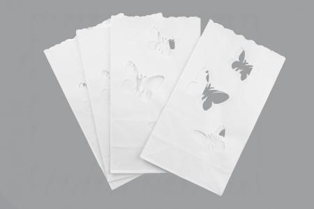 Set Lampioane pentru lumanari cu perforatii in forma de fluturasi, 15 x 9 x 26cm (1 pach / 10 buc)3