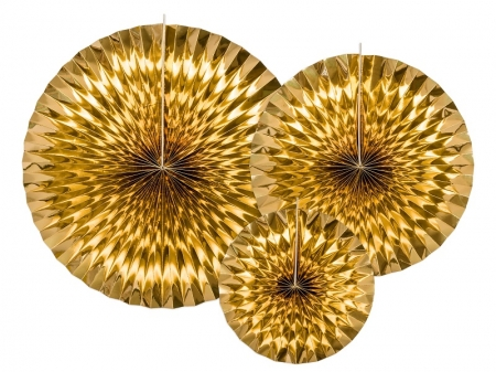 Set Evantaie decorative aurii (1 pach / 3 pc.)0