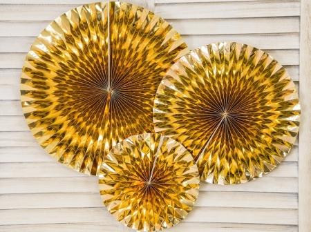 Set Evantaie decorative aurii (1 pach / 3 pc.)1