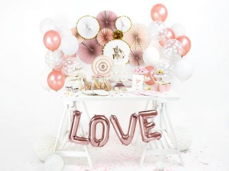 Evantaie decorative, mix de culori roz-auriu3