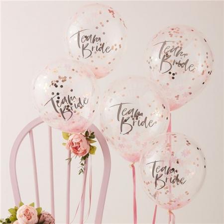 Set 5 baloane confetti Petrecerea Burlacitelor, latex 30 cm0