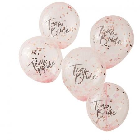 Set 5 baloane confetti Petrecerea Burlacitelor, latex 30 cm1