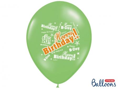 Set Baloane multicolore 30cm, Happy Birthday, Pastel Mix 10 buc.3