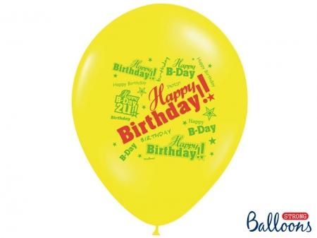 Set Baloane multicolore 30cm, Happy Birthday, Pastel Mix 10 buc.7