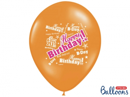 Set Baloane multicolore 30cm, Happy Birthday, Pastel Mix 10 buc.2