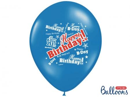 Set Baloane multicolore 30cm, Happy Birthday, Pastel Mix 10 buc.4