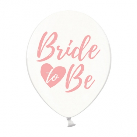 Set 5 buc baloane 30cm, Bride to be, Crystal Clear1
