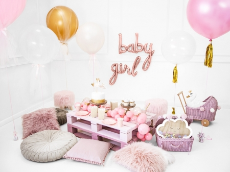 Balon folie Baby, rose gold, 73.5x75.5cm2