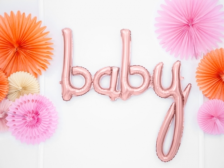Balon folie Baby, rose gold, 73.5x75.5cm0
