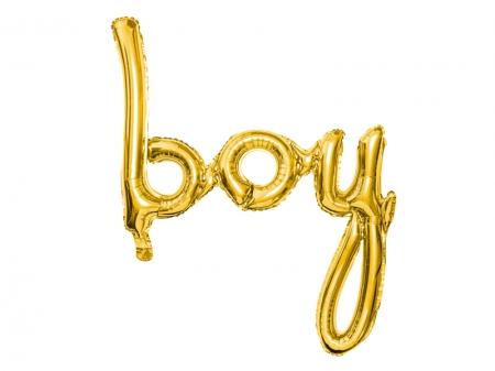 Balon folie BAIAT (BOY), auriu, 63.5x74cm [3]