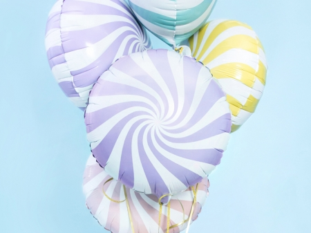 Balon Candy, 45cm, lila deschis0