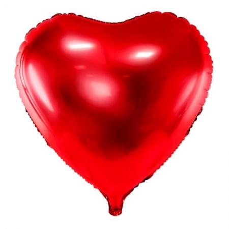 Balon folie metalică in forma de Inima, roșu, diametru aprox. 61 cm.3