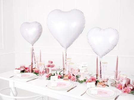 Balon Inima, culoare alb 45cm0