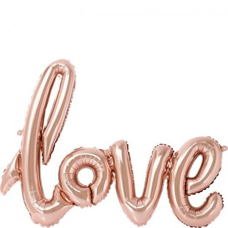 Balon folie roz LOVE (75 cm)3