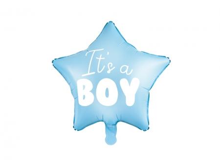 Balon Botez Baieti Star - It's a boy, 48cm, bleu3