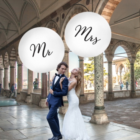 "Balon gigant ""Mr"" alb (diam aprox. 1 metru)1"