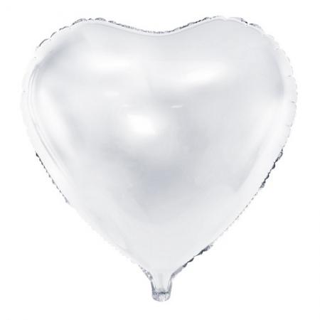 Balon Inima, culoare alb 45cm1