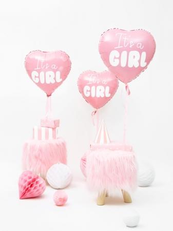 Balone folie Heart - It's a girl, 45cm, roz [2]
