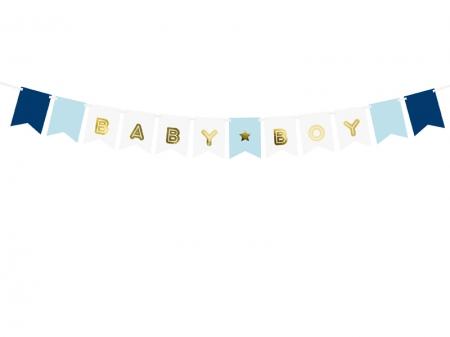 Banner Botez Baieti Baby Boy, mix, 15 x 160 cm4