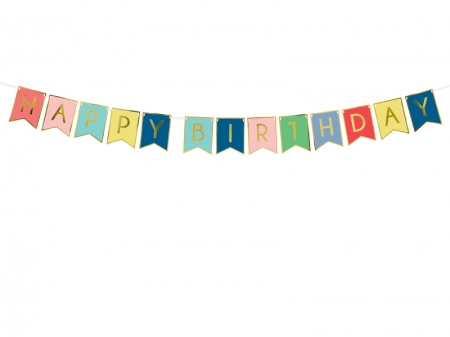 Banner Happy Birthday, mix, 15 x 175 cm1