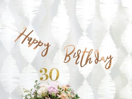 Banner Happy Birthday, rose gold, 16.5x62cm [1]