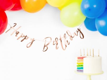 Banner Happy Birthday, rose gold, 16.5x62cm [6]