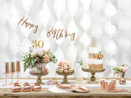 Banner Happy Birthday, rose gold, 16.5x62cm [0]