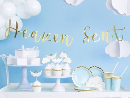 """Banner Botez """"Heaven Sent"""", auriu, 14.5x85cm2"""