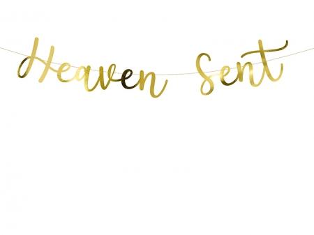 """Banner Botez """"Heaven Sent"""", auriu, 14.5x85cm6"""