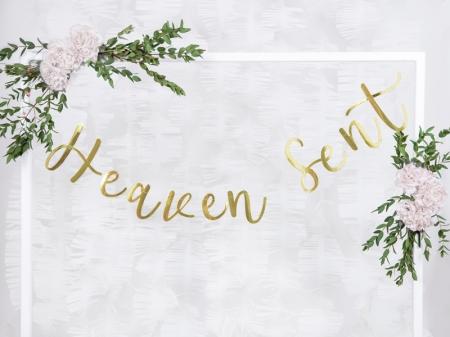 """Banner Botez """"Heaven Sent"""", auriu, 14.5x85cm1"""