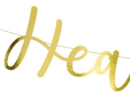 """Banner Botez """"Heaven Sent"""", auriu, 14.5x85cm7"""