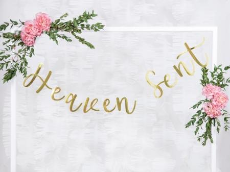 """Banner Botez """"Heaven Sent"""", auriu, 14.5x85cm0"""