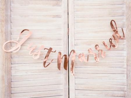 Banner Just Married din hârtie oglindă [2]