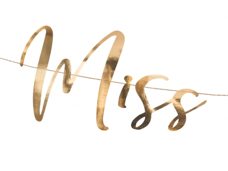 Banner Miss to Mrs. rose gold, 18x76cm5