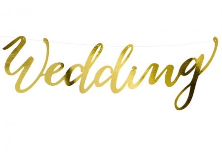 Banner Wedding, auriu, 16.5x45cm2