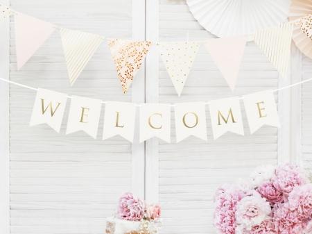 Banner Welcome (Bine ati venit), alb, 15 x 95 cm0