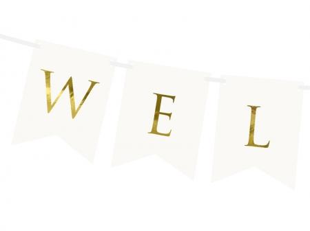 Banner Welcome (Bine ati venit), alb, 15 x 95 cm2