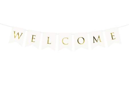 Banner Welcome (Bine ati venit), alb, 15 x 95 cm1