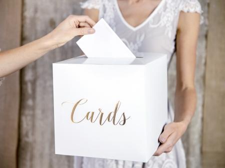 Casuta dar nunta inscriptie aurie Cards,  24 x 24 x 24 cm1