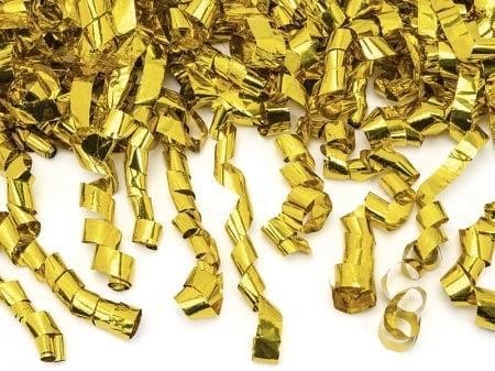 Confetti cannon panglici aurii, 40cm0