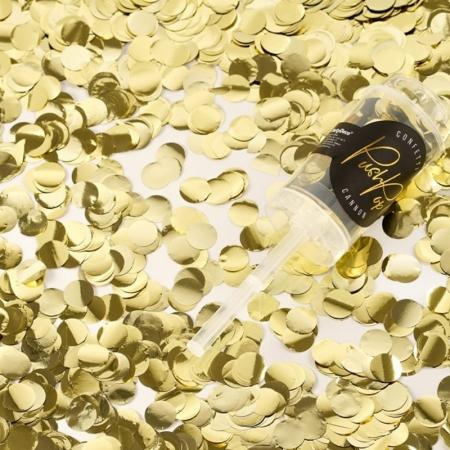 Confetti push pop aurii, tub 10x4cm0