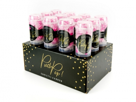 Confetti push pop roz (mix) tub 10x4 cm6