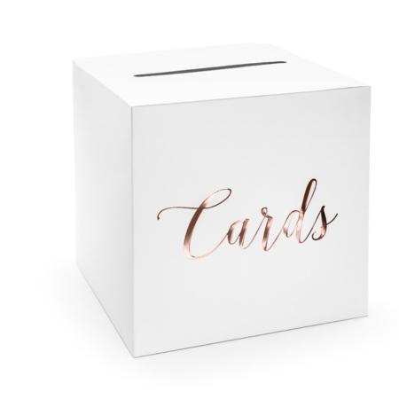 Cutie dar nunta - Cards, rose gold, 24x24x24cm0