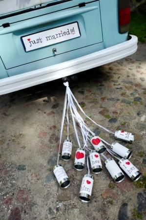 Cutii masina nunta, 14 x 7cm (1 pac / 5 buc)1