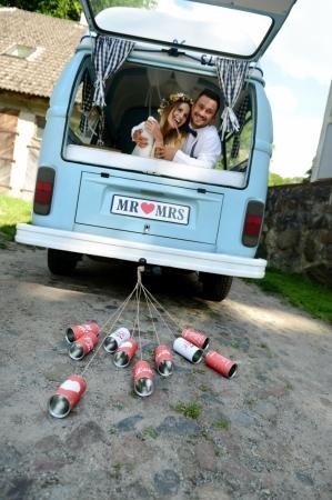 Cutii masina nunta, stil retro 14 x 7cm (1 pach / 5 buc)2