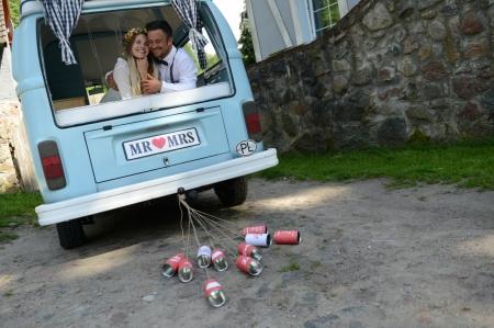 Cutii masina nunta, stil retro 14 x 7cm (1 pach / 5 buc)3