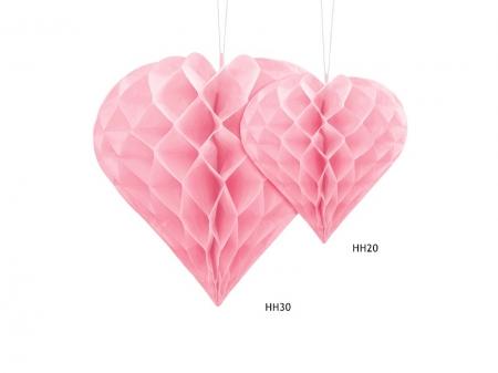 Inima roz suspendata, diametru 30cm3